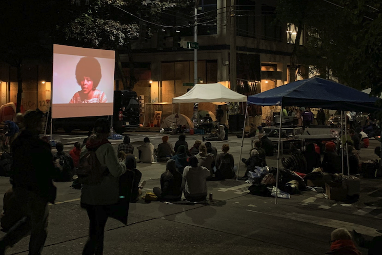 Seattle Protestors Have Been Hosting Film Screenings Inside the Capitol Hill Autonomous Zone