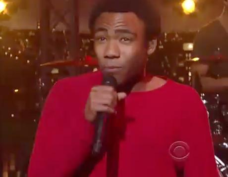 """Childish Gambino """"Heartbeat"""" (live on 'Letterman')"""