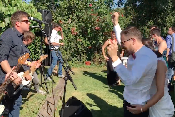 Watch Chixdiggit Play a Surprise Set at an Italian Fan's Wedding