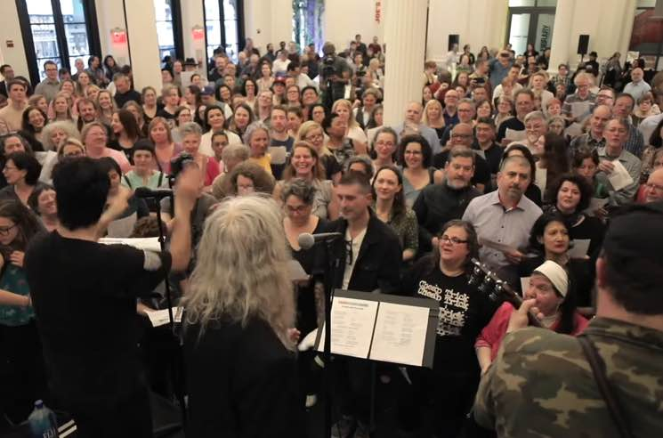 "​Watch Patti Smith and Stewart Copeland Join Choir! Choir! Choir! for ""People Have the Power"""