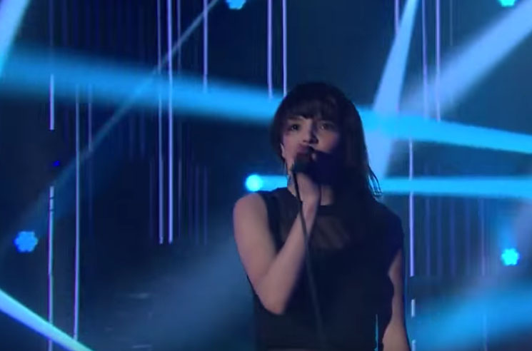 Chvrches 'Clearest Blue' (live on 'Corden')
