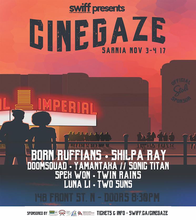 Born Ruffians, Doomsquad, Yamantaka // Sonic Titan to Play Sarnia's Cinegaze