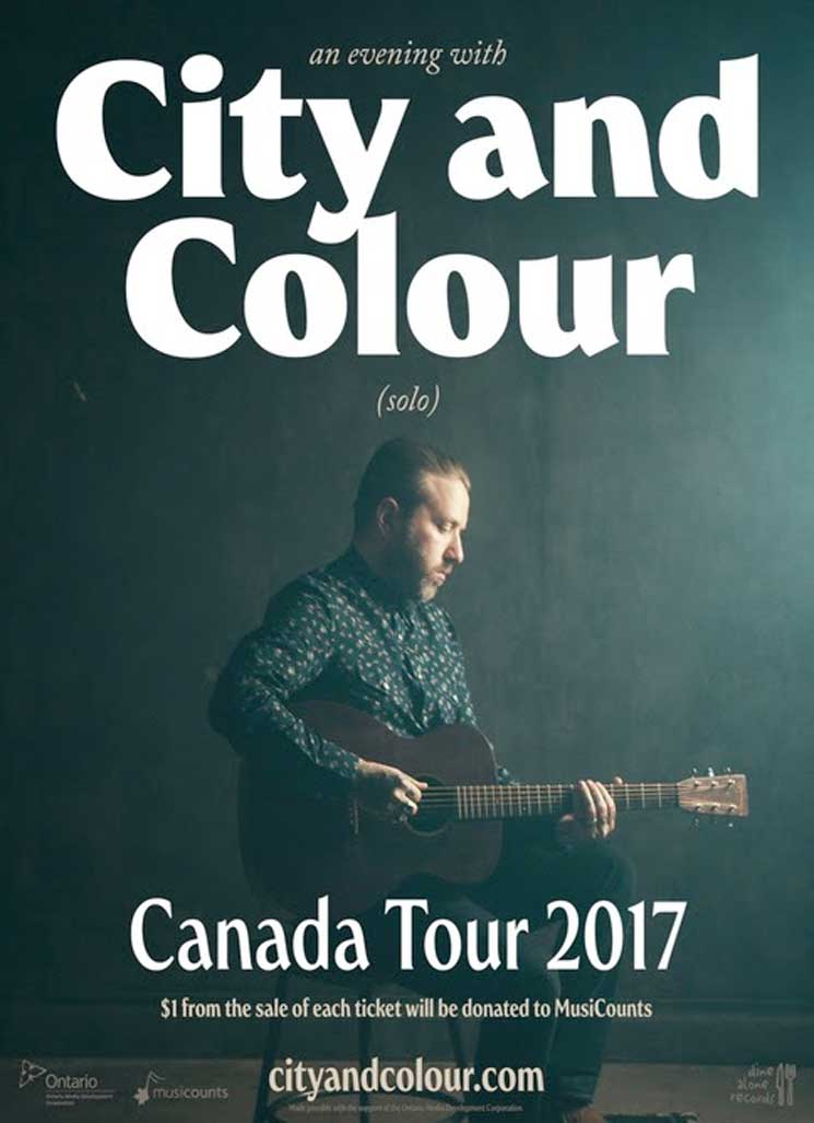 City and Colour Announces 2017 Canadian Solo Tour