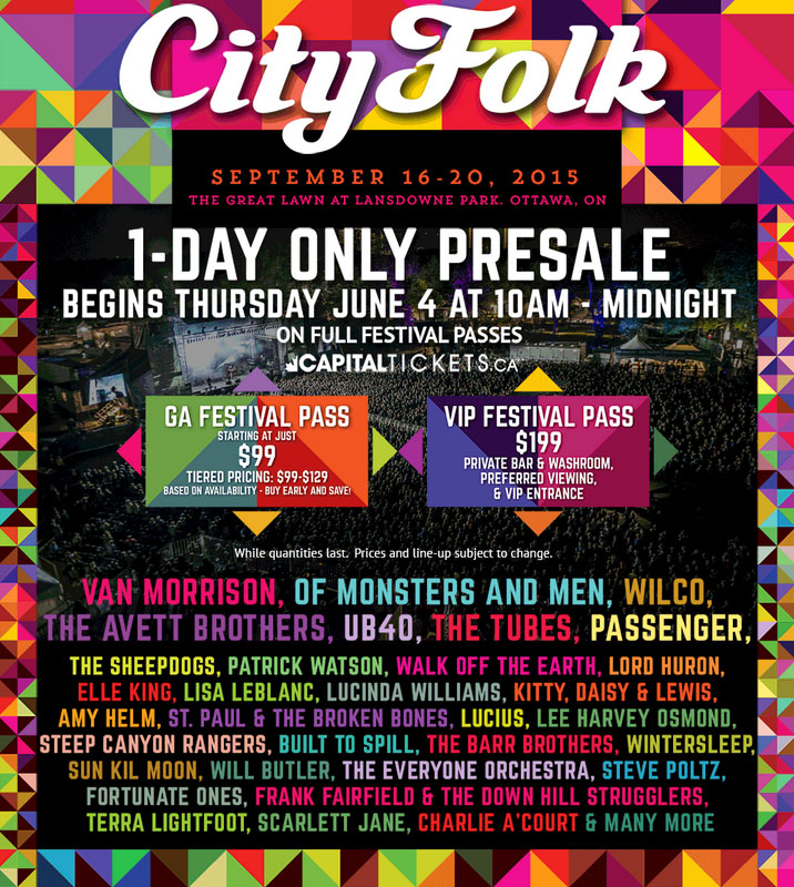 Ottawa's CityFolk Rolls Out 2015 Lineup
