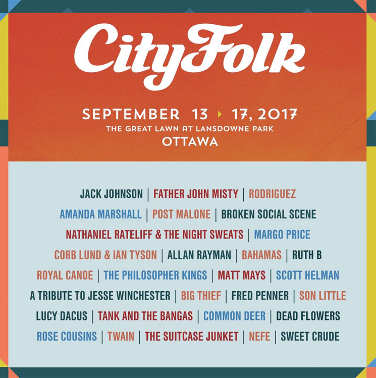 Ottawa's CityFolk Reveals Initial 2017 Lineup with Father John Misty, Rodriguez, Broken Social Scene