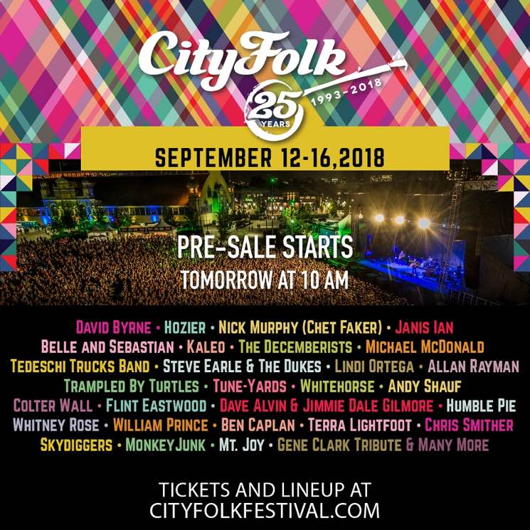 ​Ottawa's CityFolk Festival Unveils Initial 2018 Lineup