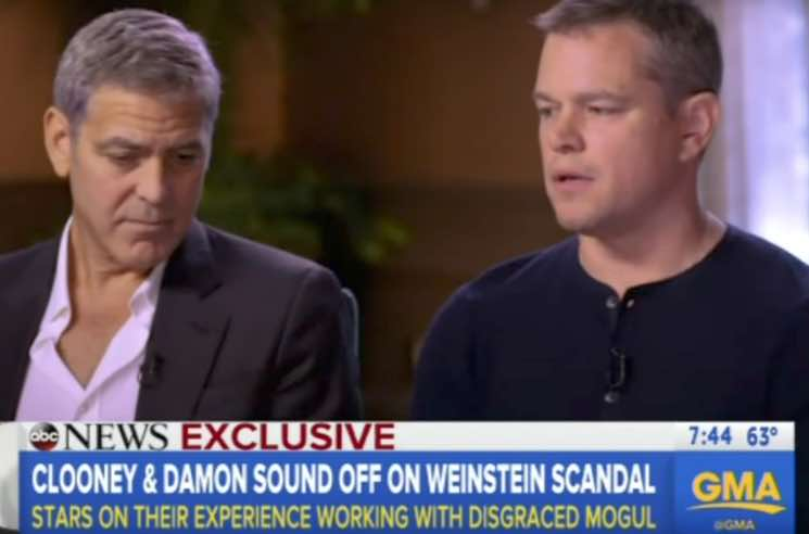 ​Matt Damon and George Clooney Speak Out Against Harvey Weinstein on 'Good Morning America'
