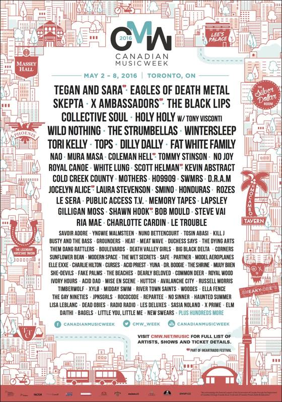 CMW Adds Tegan and Sara, Skepta, Dilly Dally to 2016 Lineup