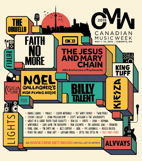 CMW Announces 2015 Headliners