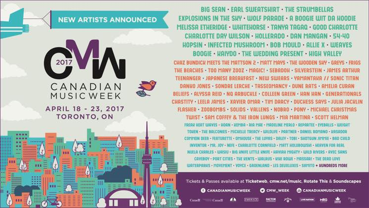 ​CMW 2017 Adds Big Sean, the Strumbellas, Tanya Tagaq, Dan Mangan, Whitehorse