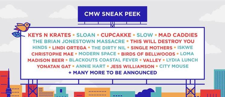 CMW Adds Sloan, Cupcakke, the Brian Jonestown Massacre to 2018 Lineup