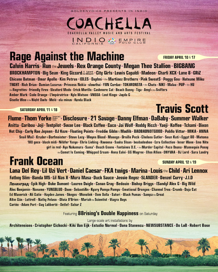Rage Against the Machine Are Headlining Coachella