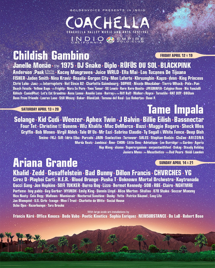 Here Is Coachella's Full 2019 Lineup