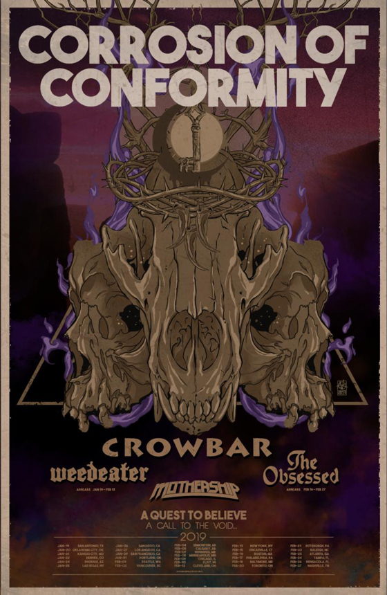 Corrosion of Conformity Map Out 2019 North American Tour