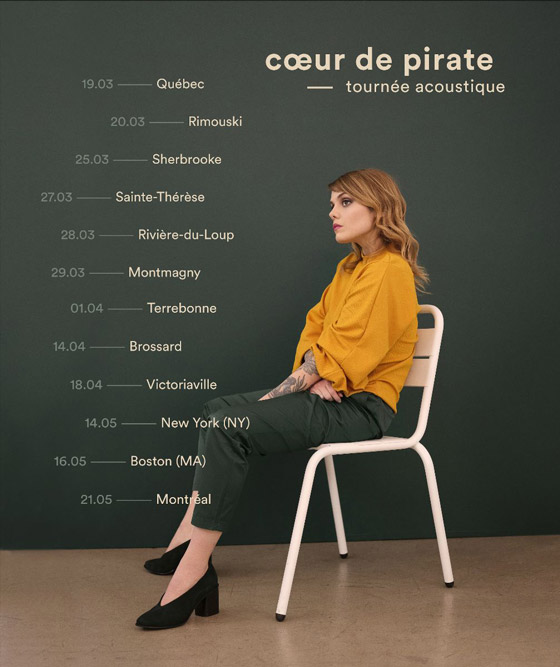 ​Coeur de pirate Takes Acoustic Tour Across Quebec