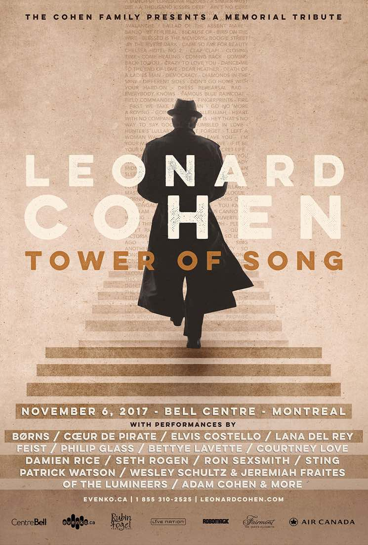 Courtney Love, Seth Rogen, Coeur de pirate Added to Montreal Leonard Cohen Tribute