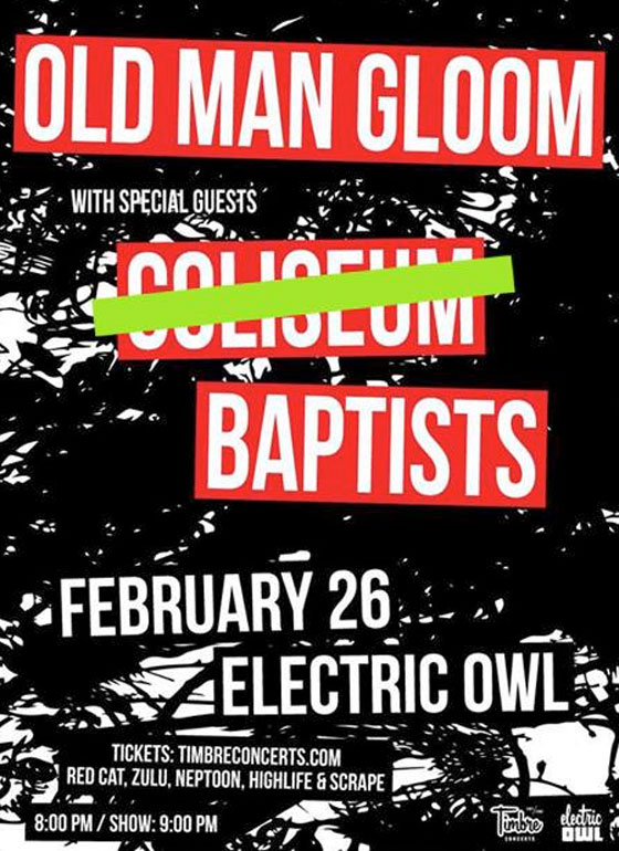 Coliseum Forced to Cancel Vancouver Show