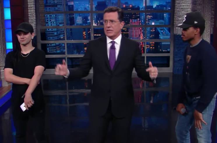 ​Skrillex and Chance the Rapper Remix Opening Monologue, Perform with Hundred Waters on 'Colbert'