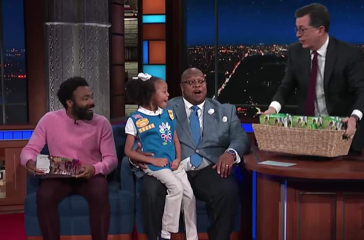 Donald Glover Bought 113 Boxes of Girl Guide Cookies on 'Colbert' Last Night
