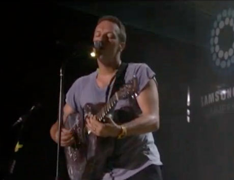 Coldplay 'Charlie Brown' / 'Every Teardrop Is a Waterfall' (live on 'Kimmel')