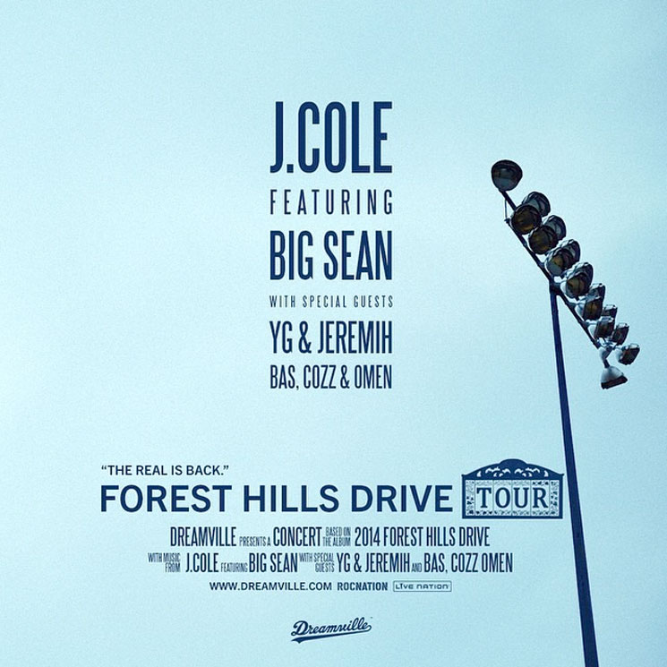 "J. Cole Announces ""Forest Hills Drive Tour"" with Big Sean"