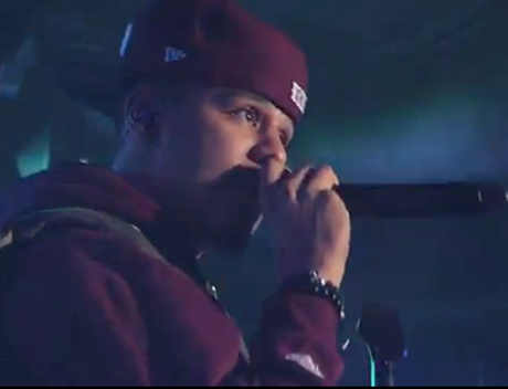 "J. Cole ""Cole World"" / ""Work Out"" (live on 'Kimmel')"