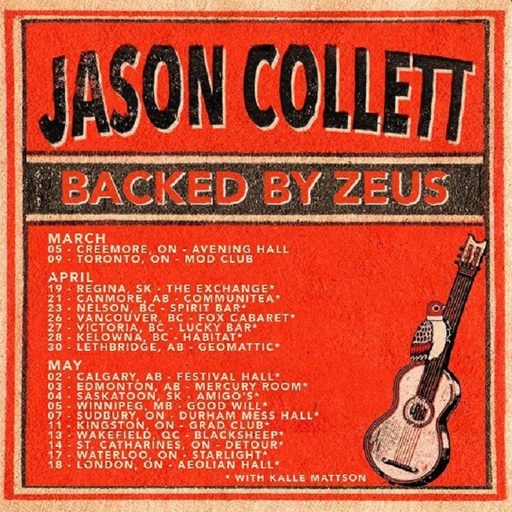 Jason Collett Teams Up with Zeus and Kalle Mattson for Canadian Tour