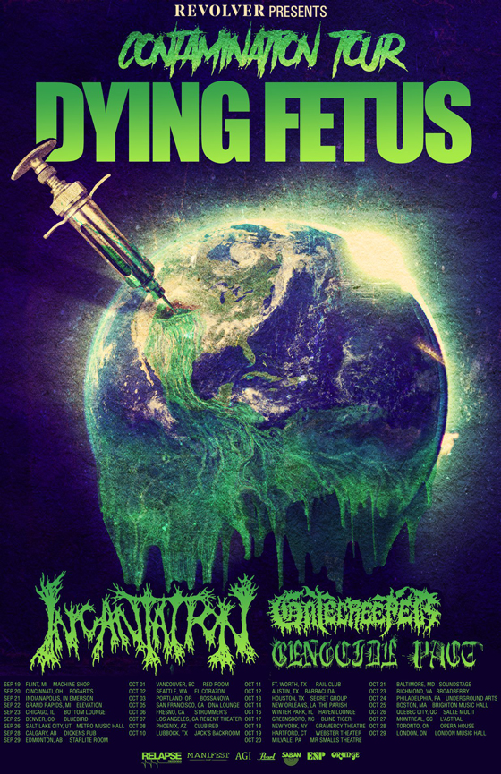 Dying Fetus Unveil 'Contamination Tour' with Incantation, Gatecreeper