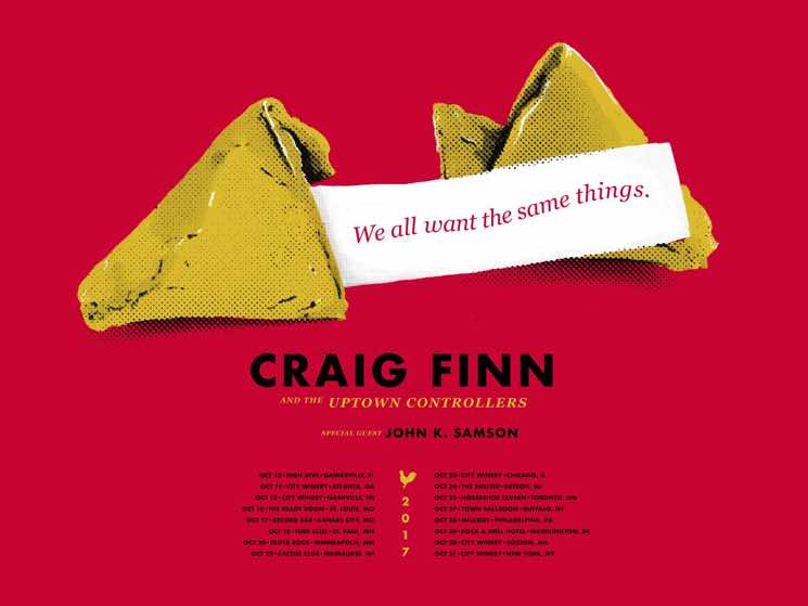 ​Craig Finn and John K. Samson Team Up for Fall Tour