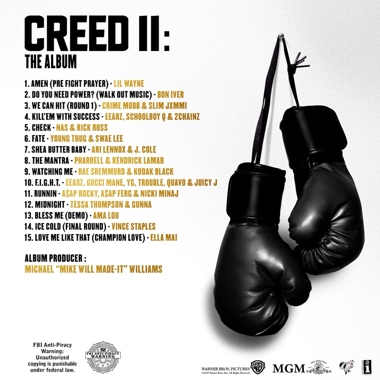 Mike WiLL Made-It Gets Lil Wayne, Bon Iver, Kendrick Lamar for 'Creed II' Soundtrack