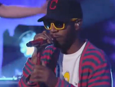 "Kid Cudi ""Immortal"" / ""Just What I Am"" (live on 'Kimmel')"