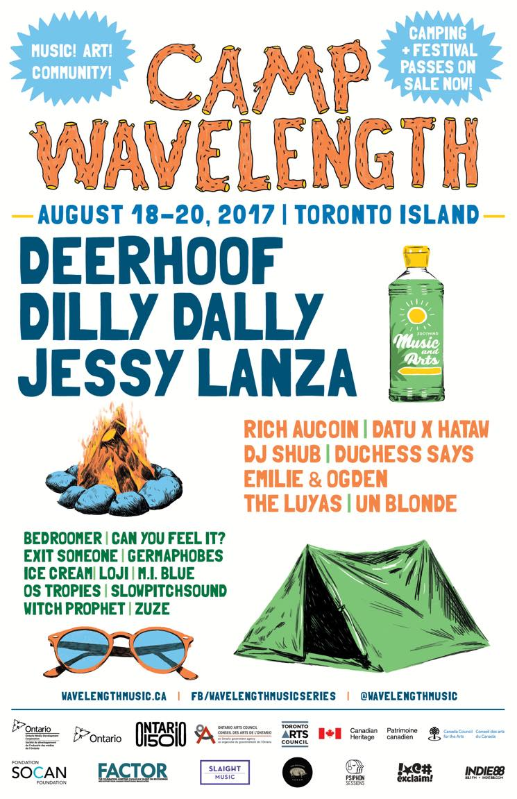 Camp Wavelength Announces 2017 Lineup with Deerhoof, Dilly Dally, Jessy Lanza