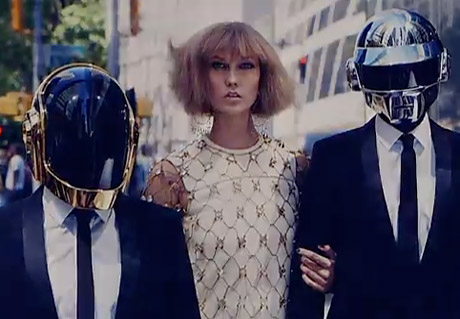 Daft Punk Behind the Scenes with Karlie Kloss ('Vogue' video)