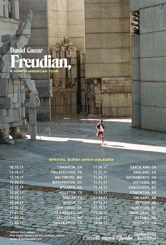 Daniel Caesar Brings 'Freudian' on North American Tour