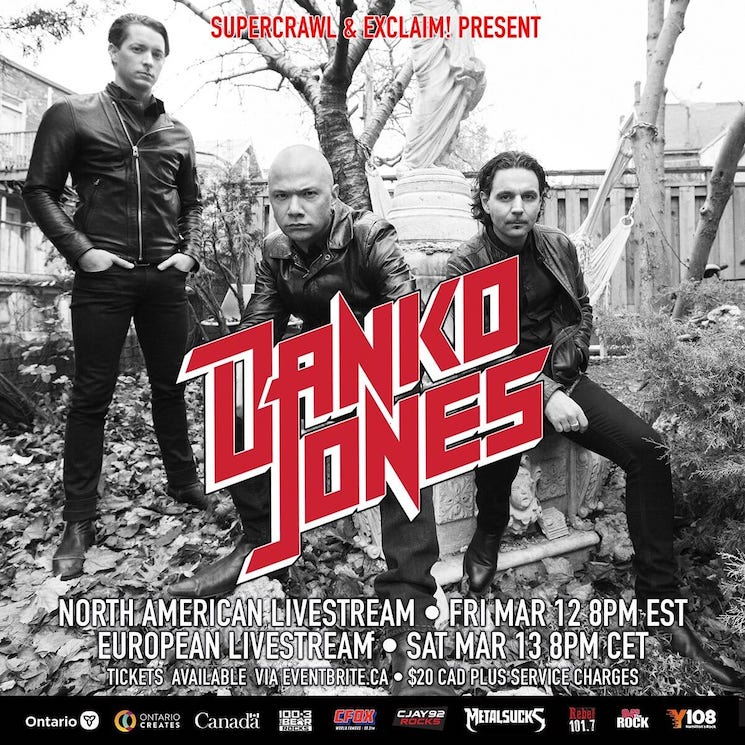 Danko Jones Announce 25th Anniversary Livestream Shows