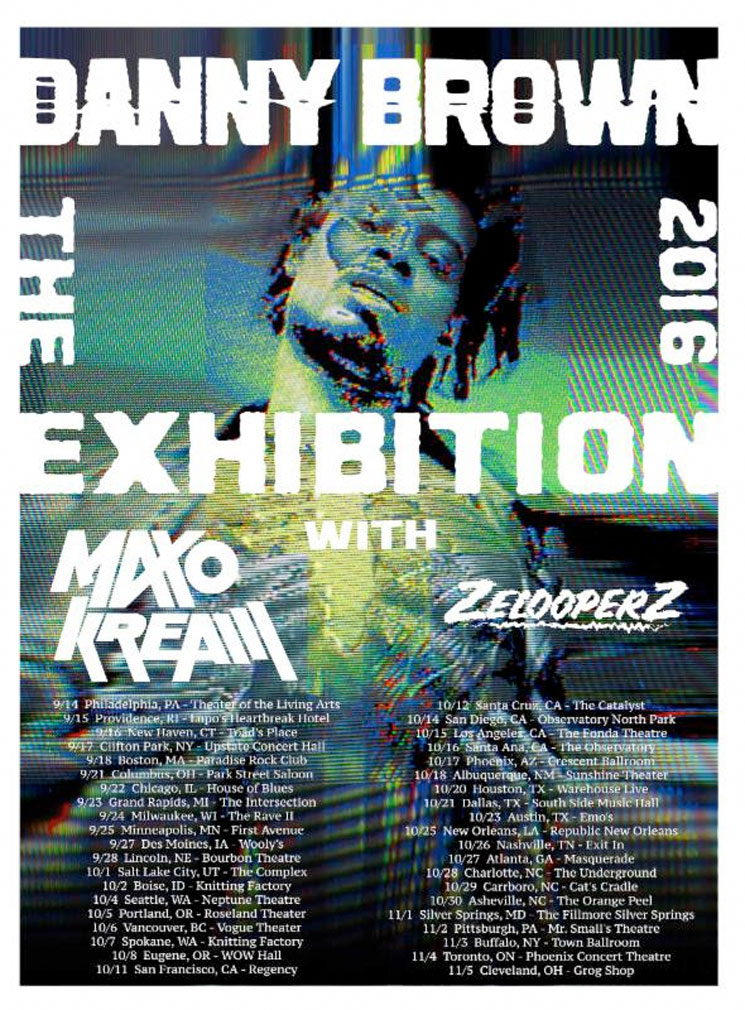 Danny Brown Plots North American Tour Behind 'Atrocity Exhibition'