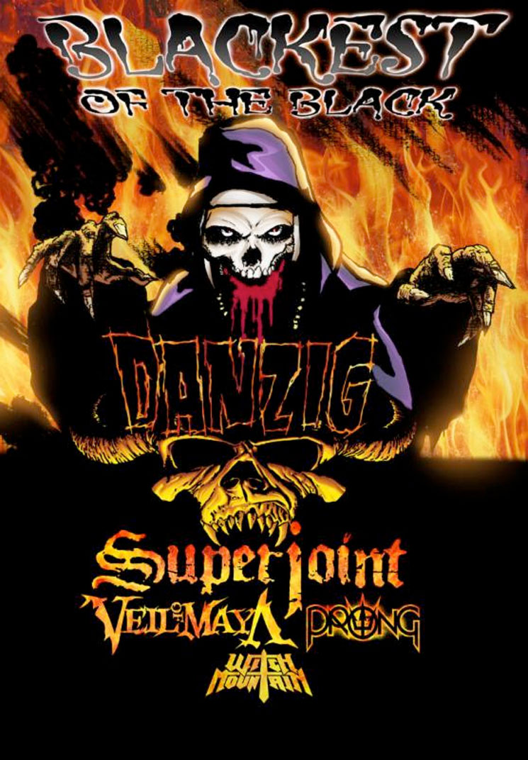 "Danzig Takes Superjoint, Prong on ""Blackest of the Black"" Tour"