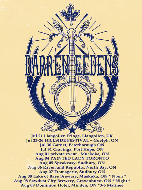 Darren Eedens Rolls Out Ontario Summer Tour Dates