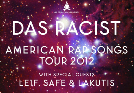 "Das Racist Announce ""American Rap Songs Tour,"" Play Toronto"