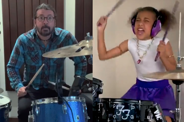 Dave Grohl Wrote His 10-Year-Old Drum-Off Challenger a Theme Song