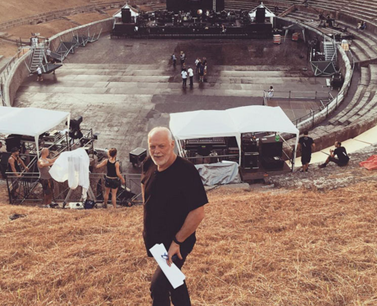 David Gilmour Returns to Pompeii 45 Years After Pink Floyd's Legendary Visit