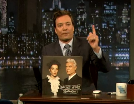 "David Byrne & St. Vincent ""Who"" / ""The Forest Awakes"" (live on 'Fallon')"