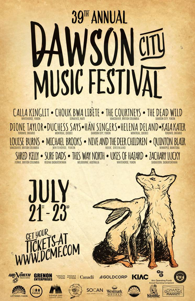 ​Dawson City Music Festival Gets the Courtneys, Shred Kelly, Duchess Says, Louise Burns for 2017 Edition
