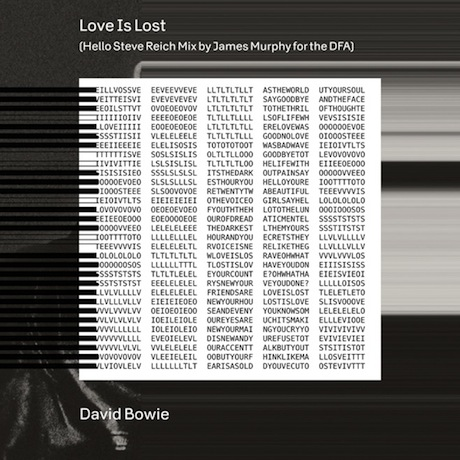 """David Bowie """"Love Is Lost"""" (Hello Steve Reich Mix by James Murphy)"""