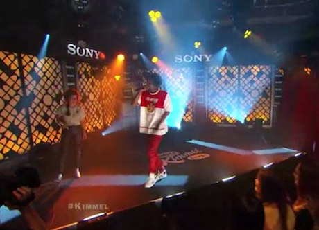 "Danny Brown ""25 Bucks"" (ft. Purity Ring's Megan James) (live on 'Kimmel')"