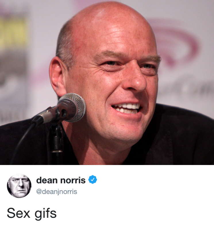 'Breaking Bad' Actor Dean Norris Would Like Some Sex GIFs Please
