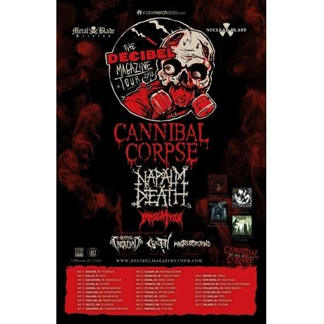 Decibel Tour Brings Cannibal Corpse, Napalm Death, Immolation Through Canada