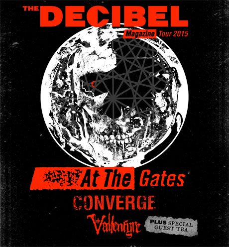 At the Gates Team Up with Converge and Vallenfyre for 'Decibel Magazine Tour 2015'
