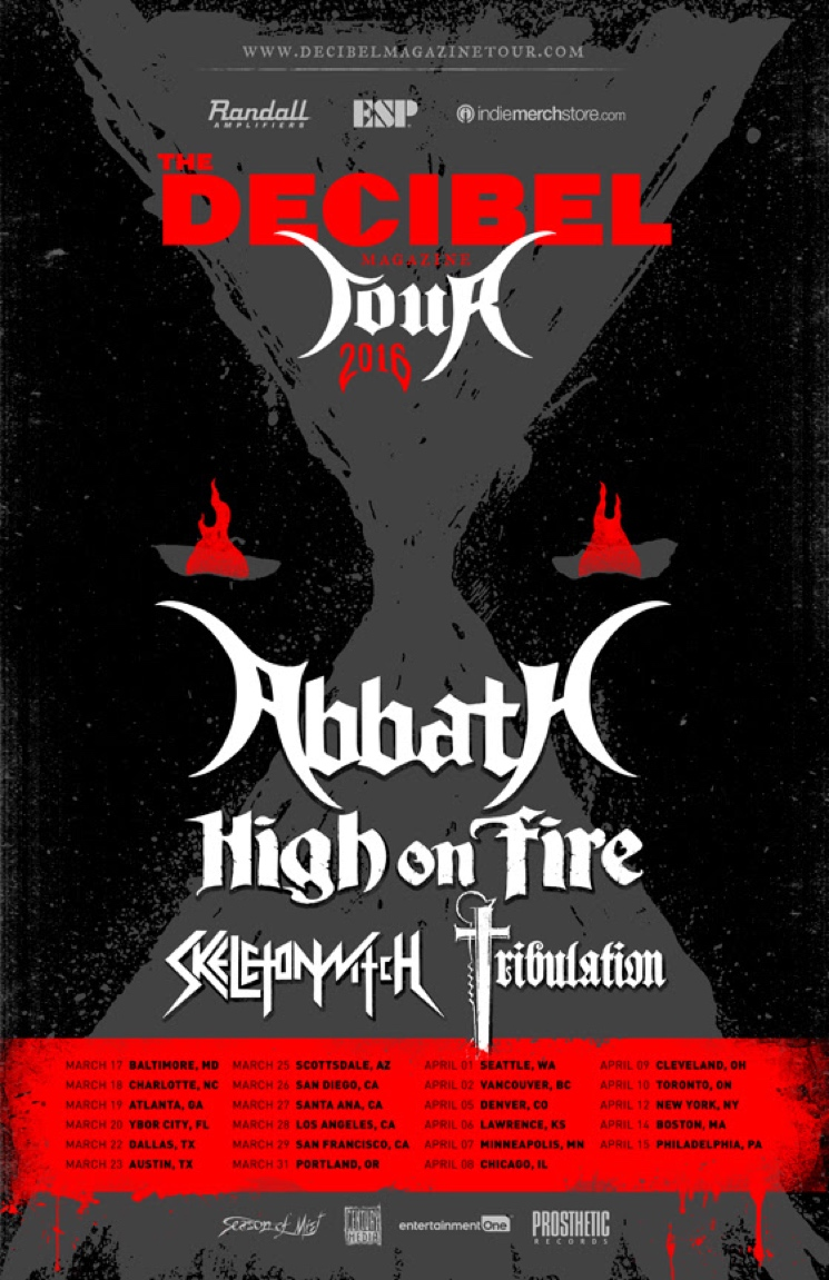 Abbath, High on Fire, Skeletonwitch Unite for 2016 Decibel Tour