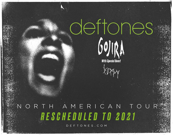 Deftones, Gojira and Poppy Reschedule Summer Tour for 2021